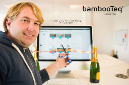 Opening bamboe webshop.