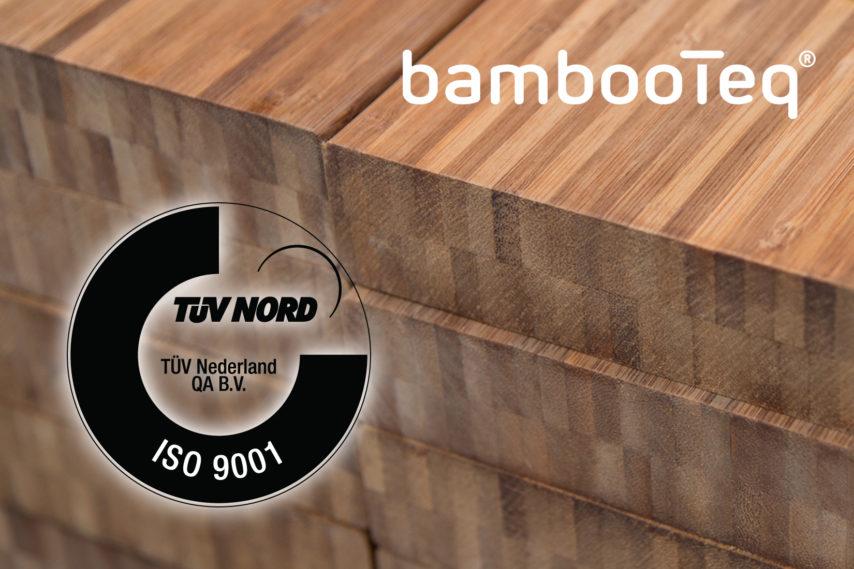 BambooTeq haalt ISO 9001 certificering.