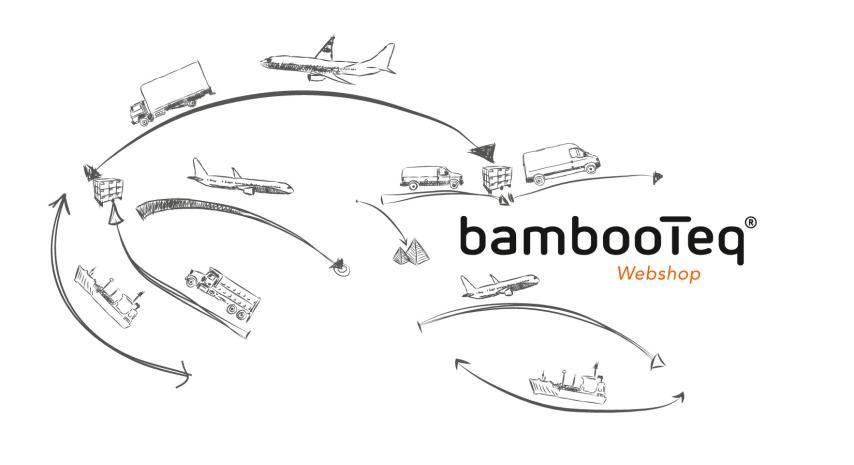 BambooTeq nieuwe webshop waar iedereen online bamboe materialen kan kopen.