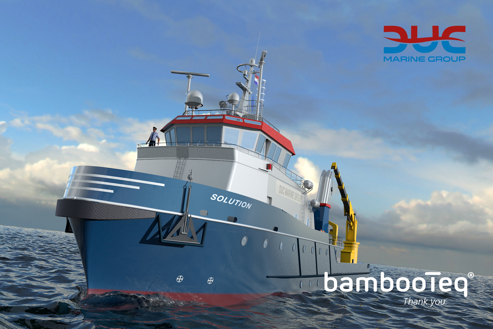 DUC Marine Group is going to apply bamboo decking by BambooTeq.