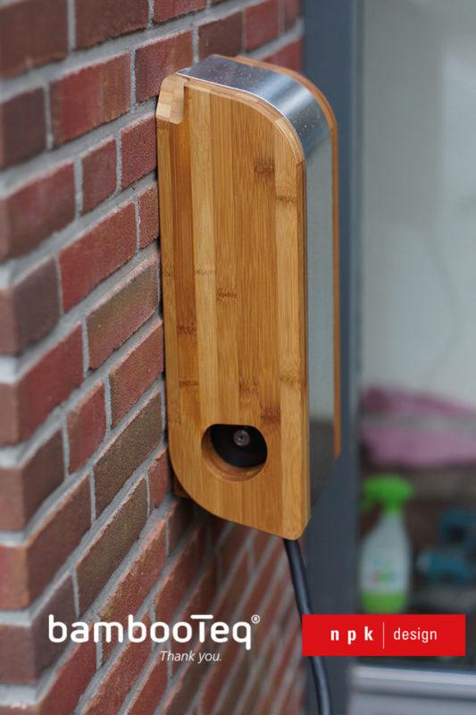 npk design ontwerp bamboe laadpaal met BambooTeq bamboe voor Tesla