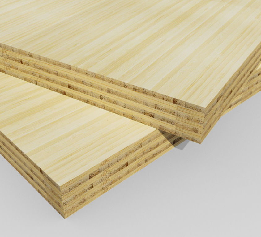 Bamboe plaat 30 mm side-pressed 7 laags naturel 400 x 62 cm