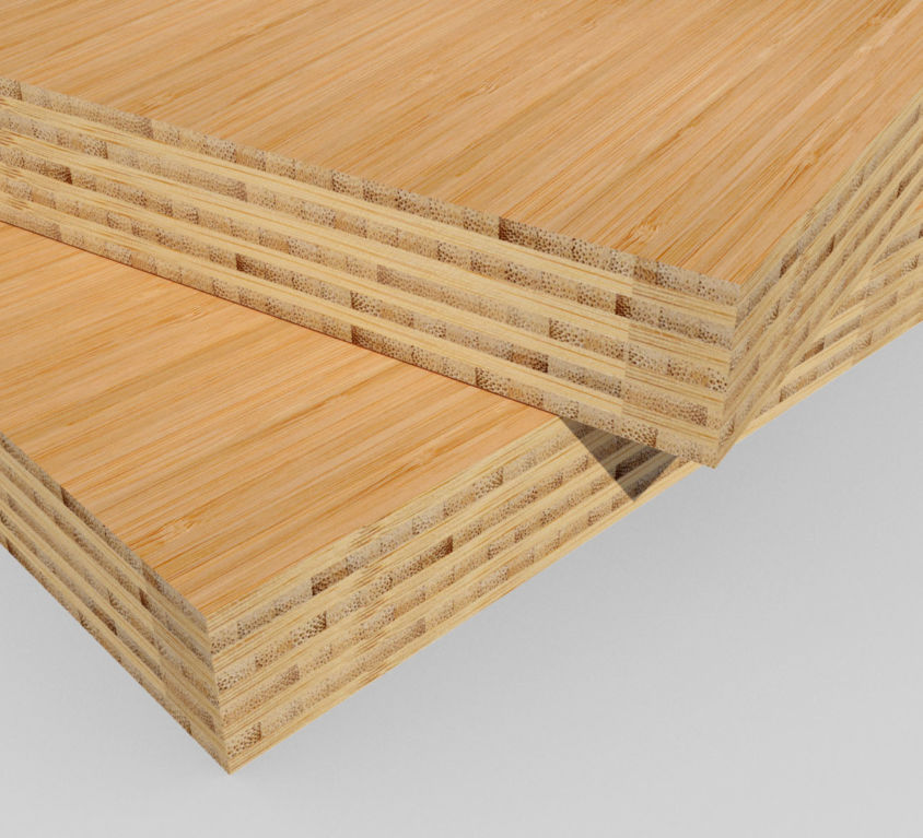 Bamboe plaat 40 mm side-pressed 9 laags caramel 400 x 90 cm