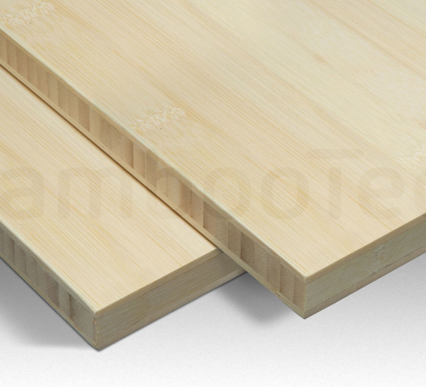 Bamboe plaat 20 mm plain-pressed 3 laags naturel 244 x 122 cm