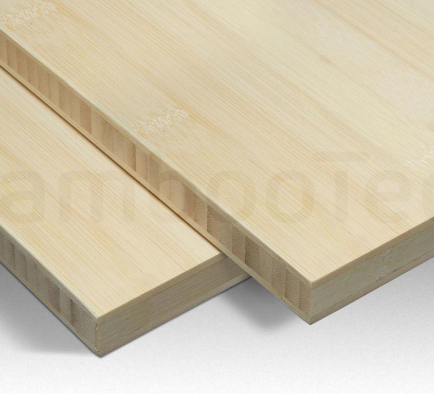 Bamboe plaat 20 mm plain-pressed 3 laags naturel 244 x 122 cm