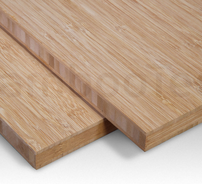 Bamboe plaat 16 mm side-pressed 3 laags caramel 244 x 122 cm