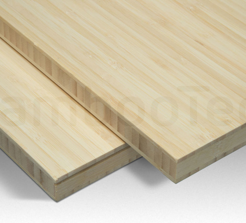 Bamboe plaat 16 mm side-pressed 3 laags naturel 244 x 122 cm