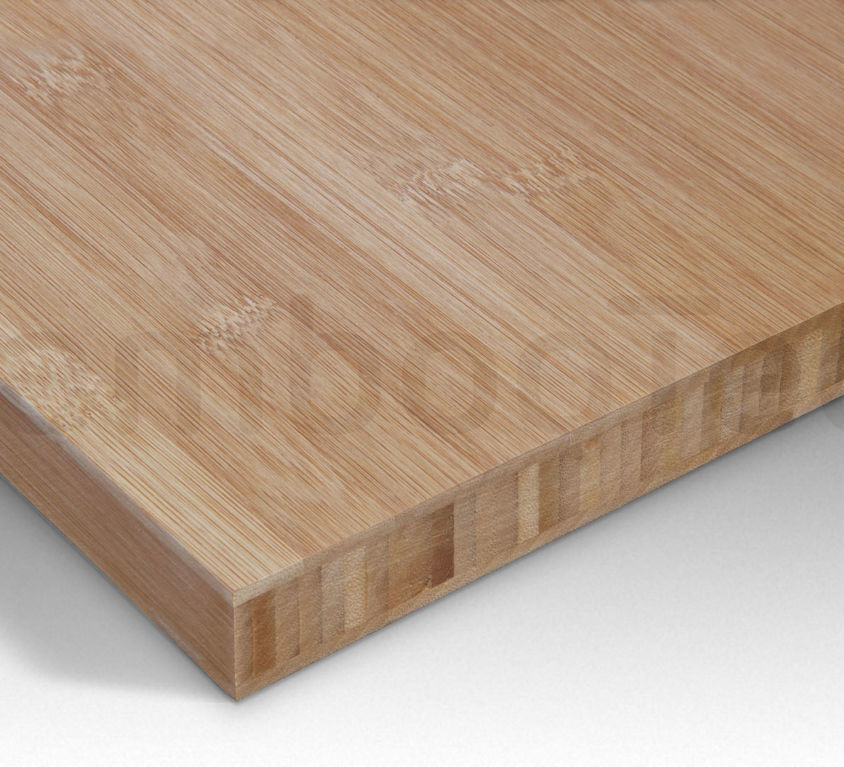 Bamboe plaat 30 mm plain-pressed 3 laags caramel 244 x 122 cm