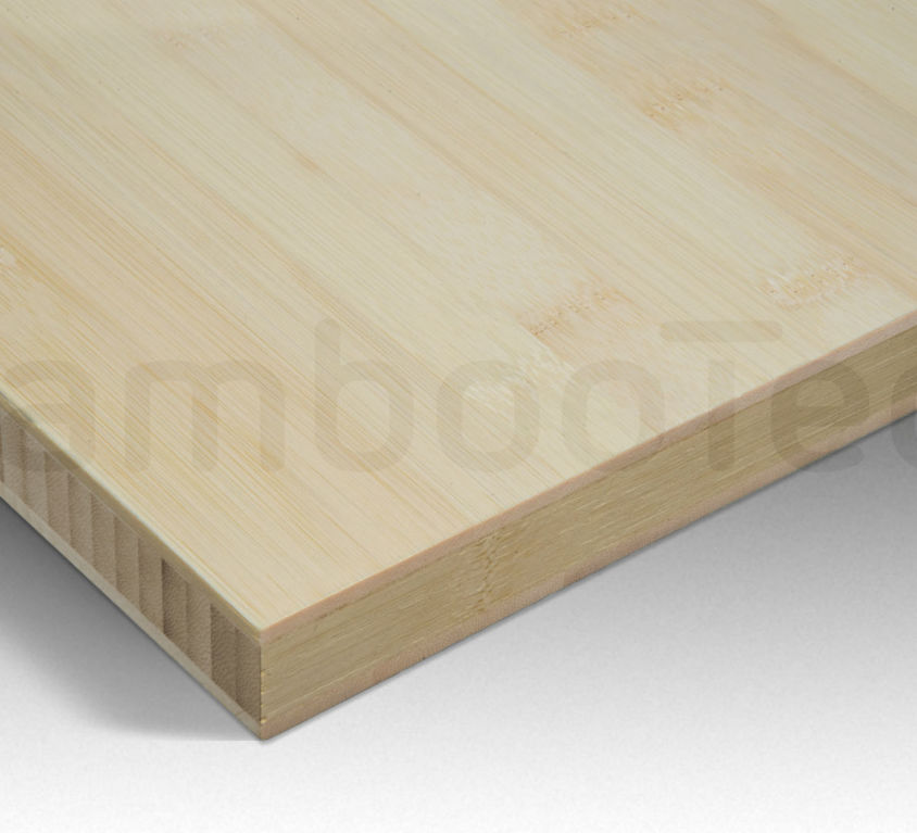 Bamboe plaat 30 mm plain-pressed 3 laags naturel 244 x 122 cm