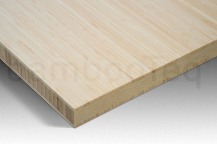 Bamboe plaat 30 mm side-pressed 3 laags naturel 244 x 122 cm