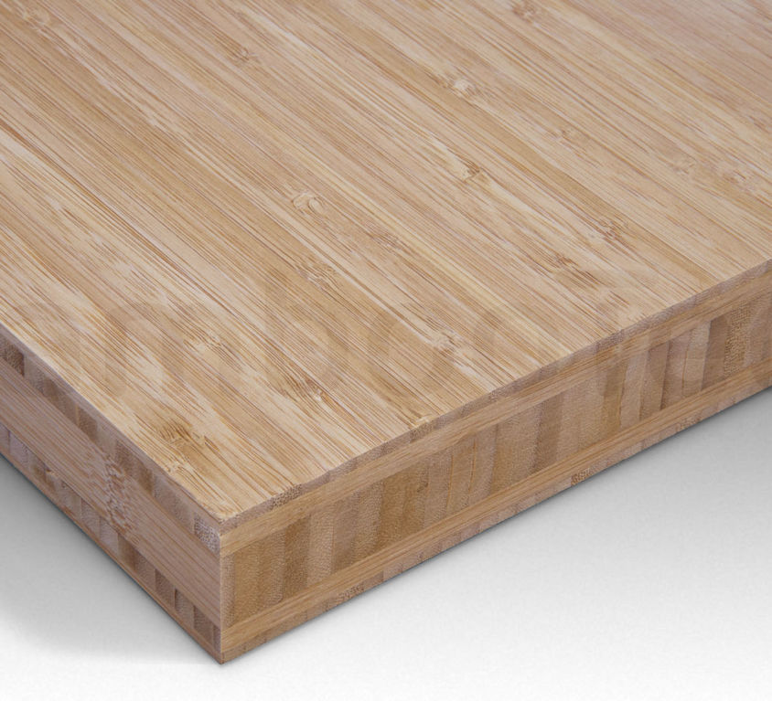 Bamboe plaat 40 mm side-pressed 5 laags caramel 244 x 122 cm