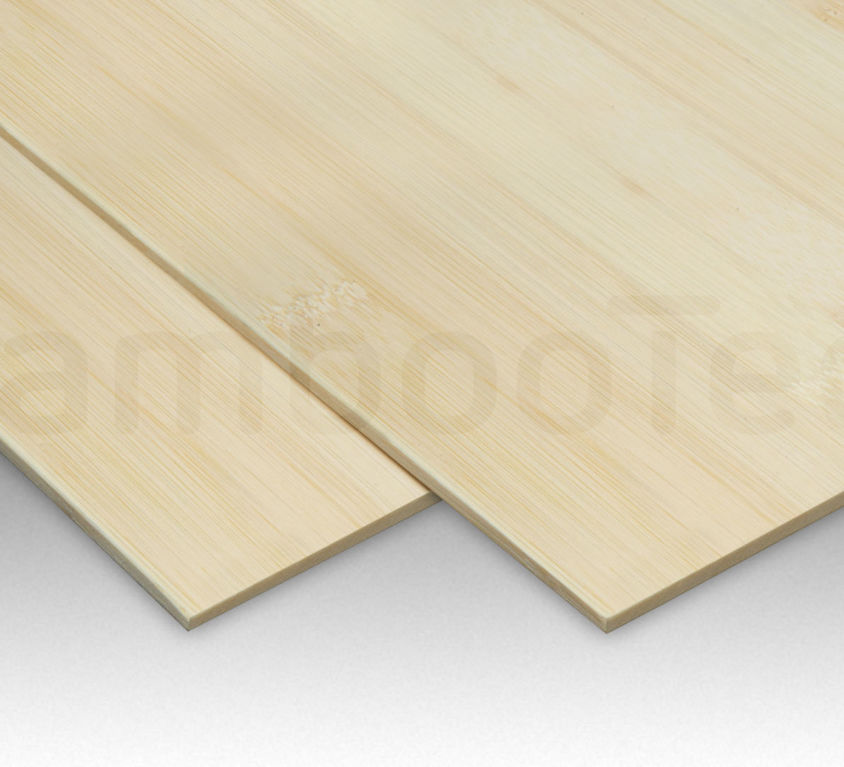 Bamboe plaat 5 mm plain-pressed 1 laags naturel 244 x 122 cm