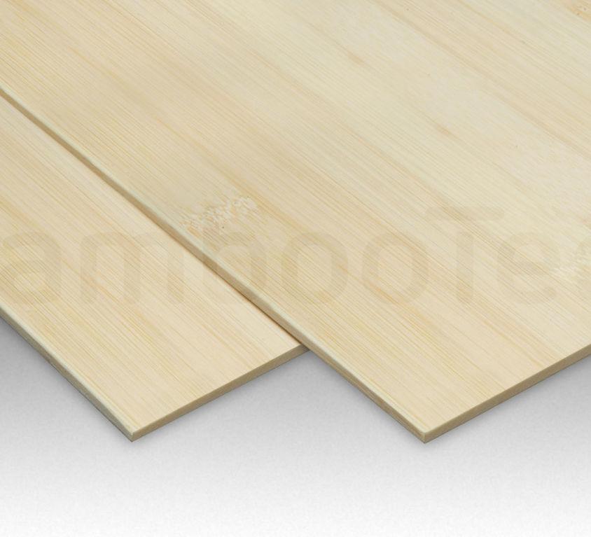 Bamboe plaat 5 mm plain-pressed 1 laags naturel 244 x 122 cm